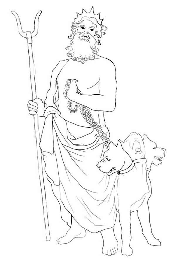 How to Draw Hades and Cerberus Coloring Page
