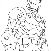 How to Draw Iron Man Coloring Page