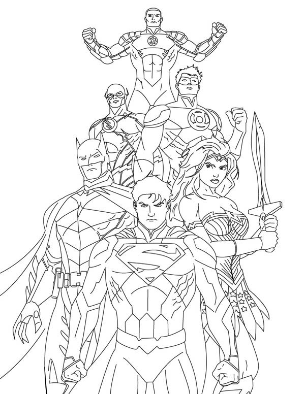 How To Draw Justice League Coloring Page Netart Read the biggest details on the cast, story, and everything else you need to know for the dceu 34 things we learned on the set of justice league. draw justice league coloring page
