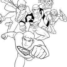 How to Draw Young Justice League Coloring Page