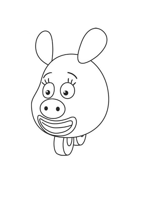 How to Draw Zooter from Jungle Junction Coloring Page