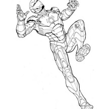 Iron Man Coloring Page for Kids
