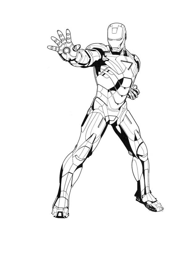 Iron Man Dont Even Try Coloring Page Netart