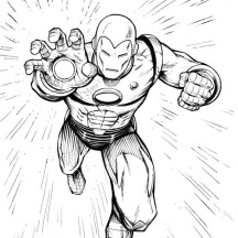 Iron Man Final Strike Coloring Page