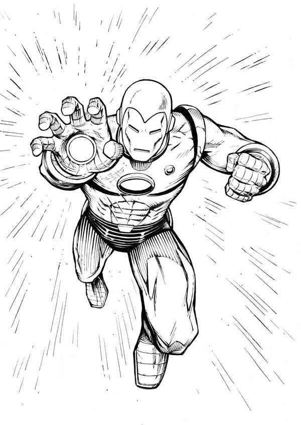 Iron Man Final Strike Coloring Page