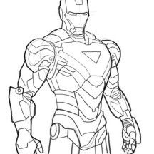 Iron Man Mark 6 Coloring Page