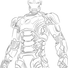 Iron Man Shinny Armour Coloring Page