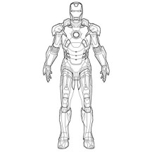 Iron Man Suit Coloring Page
