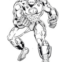 Iron Man Tank Heavy Combat Suit Coloring Page