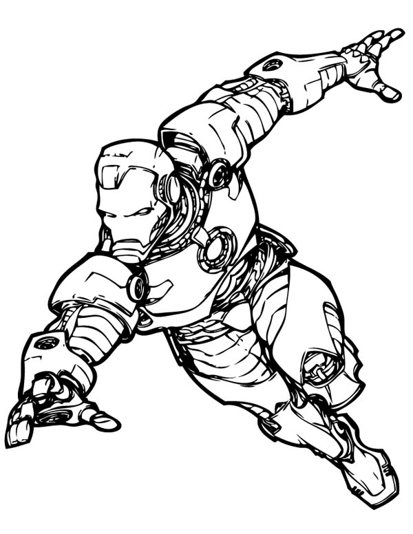 Iron Man the Avengers Coloring Page