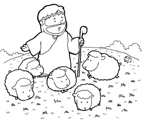 Jesus Christ The Bible Heroes Coloring Page