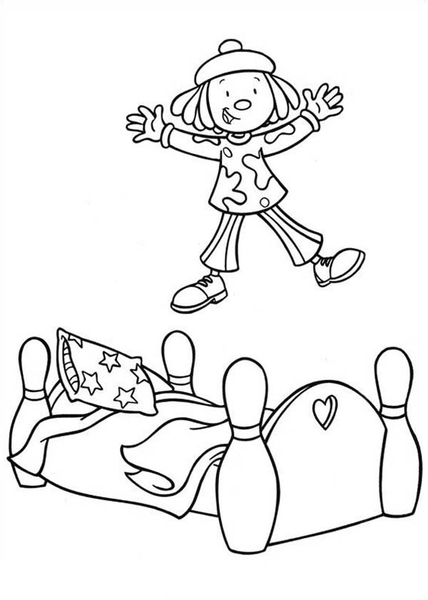 big bed pics coloring pages - photo#18
