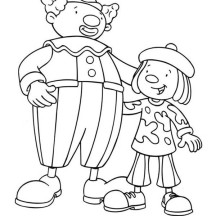 Jojo and His Best Friend Skeebo Seltzer in Jojo's Circus Coloring Page