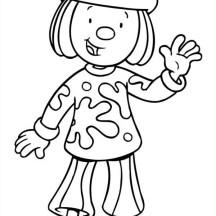 Jojo from Jojo's Circus Greeting Us Coloring Page