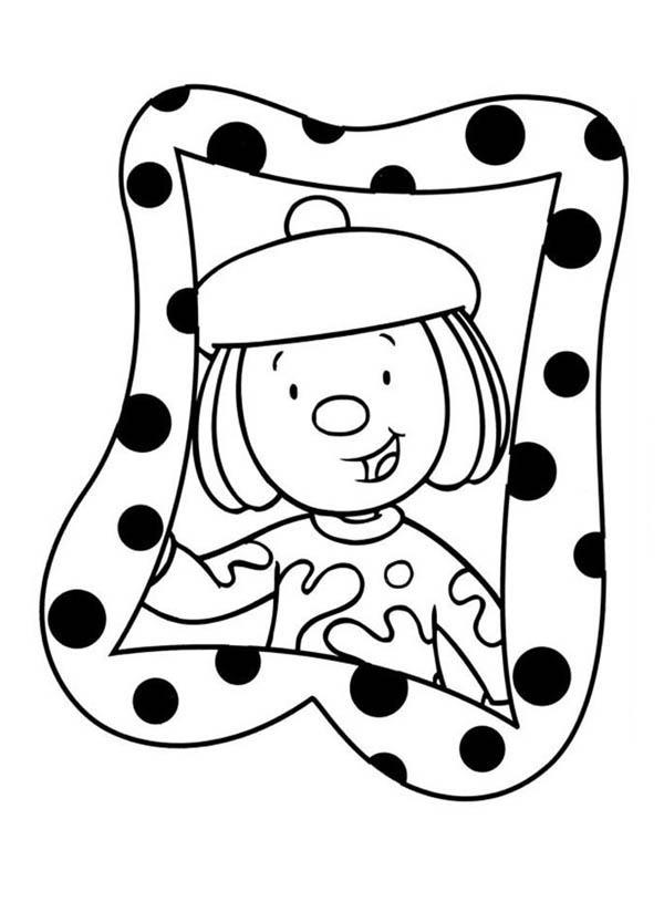 Jojo's Photo in Frame in Jojo's Circus Coloring Page