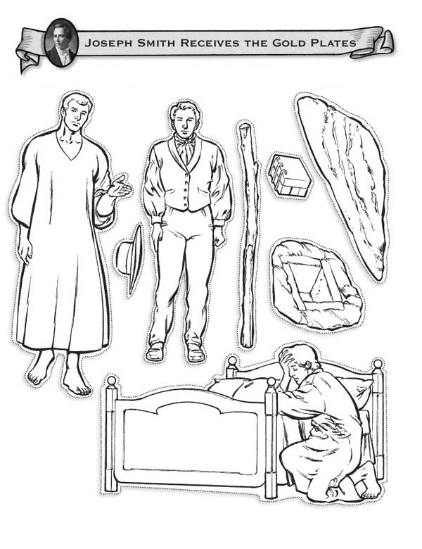 Joseph Smith Receive The Gold Plates Coloring Page Netart