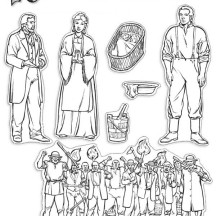 Joseph Smith and Emma Hale Trials Coloring Page