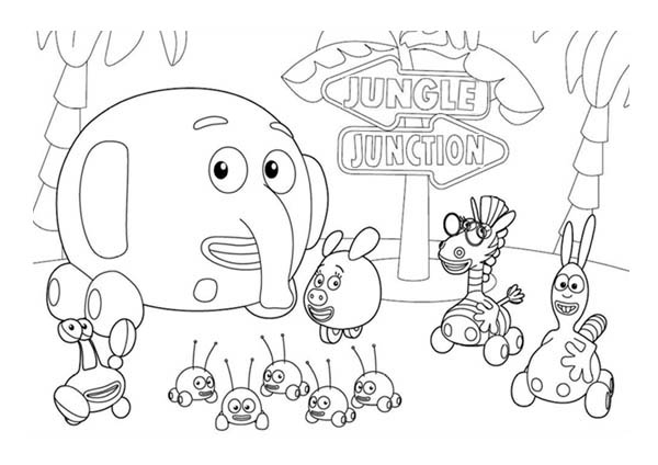 Jungle Junction the Movie Coloring Page