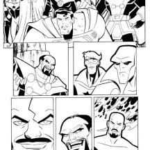 Justice League Comic Coloring Page