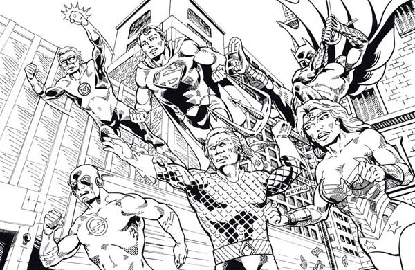 Justice League Europe Coloring Page