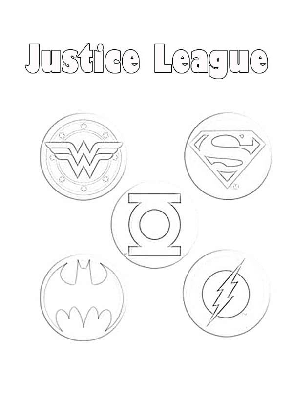 Justice League Member Logo Coloring Page