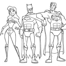 Justice League Trinity Coloring Page