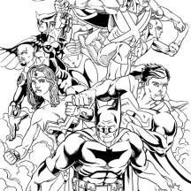 Justice League of America Coloring Page for Kids