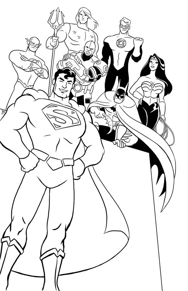 Justice League of America Task Force Coloring Page