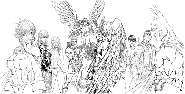 Justice League the Extreme Justice Coloring Page