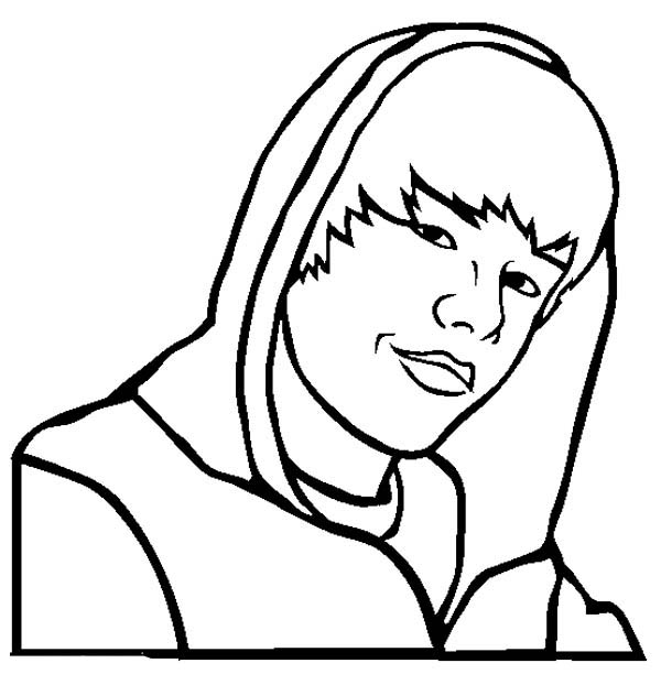 Justin Bieber Baby Coloring Page