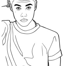 Justin Bieber Looking Confused Coloring Page