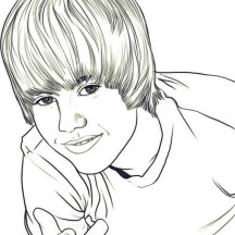 Justin Bieber Picture Coloring Page
