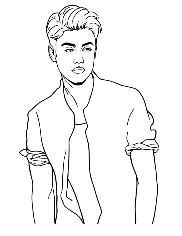 coloring pages justin bieber print - photo#18