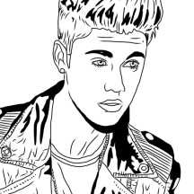 Justin Bieber Under the Mistletoe Coloring Page