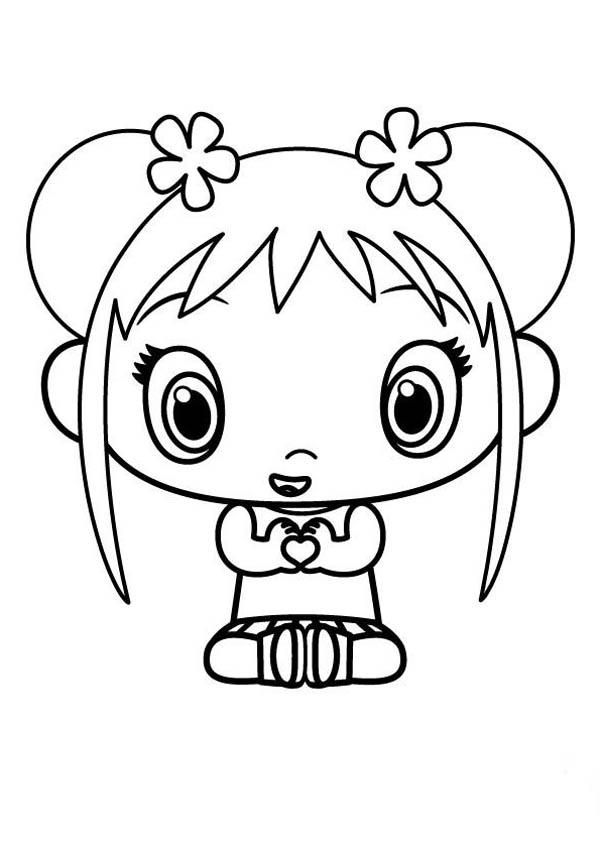 Kai Lan Shows Her Love Coloring Page