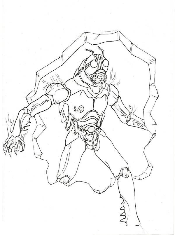 Kamen Rider Black Sun Coloring Page
