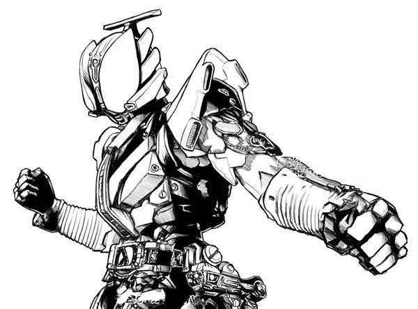 Kamen Rider Den O Liner Coloring Page NetArt