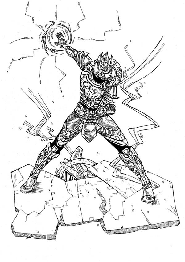 Kamen Rider Destroy the Enemy Coloring Page