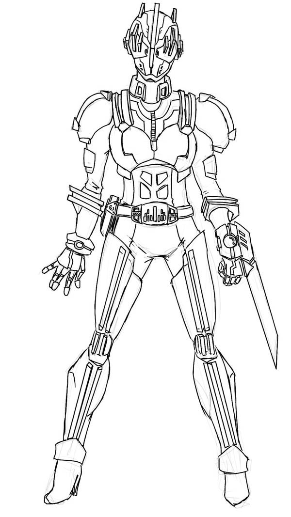 Kamen Rider Hunter Coloring Page