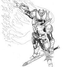Kamen Rider Kiva the Emperor Coloring Page