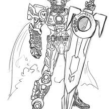 Kamen Rider Orga Coloring Page