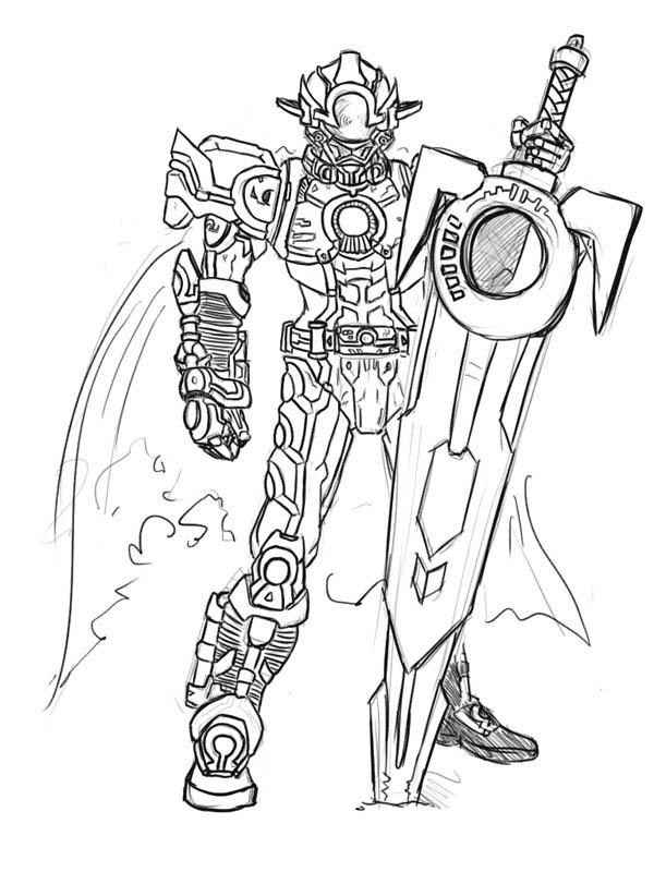 Kamen Rider Orga Coloring Page Netart