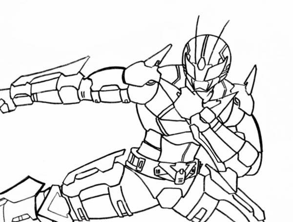 Kamen Rider Robo Coloring Page