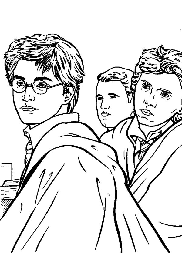Kids Drawing of Harry Potter Coloring