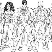 Kids Drawing of Justice League Coloring Page
