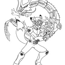 Kids Drawing of Kamen Rider Coloring Page