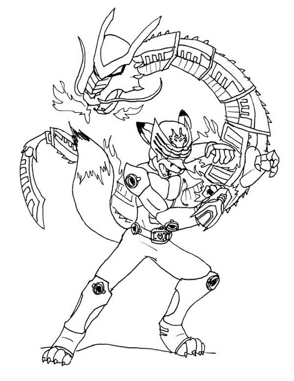 Kids Drawing of Kamen Rider Coloring Page