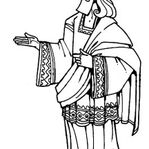 King Solomon of Israel in the Bible Heroes Coloring Page