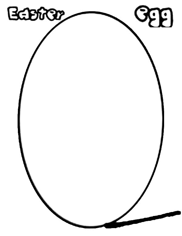 Learn to Draw Easter Eggs Coloring Page
