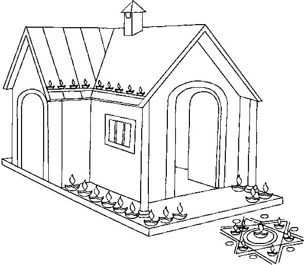 Light so Many Candles to Celebrate Diwali Coloring Page